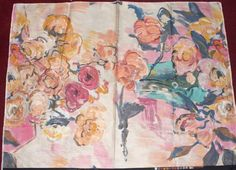 Art paintstroke brushed scenic florals home decor crafts sewing fabric panel #Folia