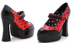 "5.5"" Heel Polka-Dot Ladybug  (ES557-Ladybug) ""Try Polka dancing in these cute Polka-Dotted heels! :-D"""