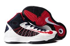 Authentic Nike Shoes For Sale Nike Lunar Hyperdunk X 2012 Women Shoes White/Blue/Red  [wms basket -
