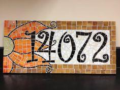 Custom Mosaic Address Plaque. $119.00, via Etsy.