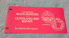 Isle of man stamps presentation pack commemorating Manx pioneers to Cleveland ohio 1825-1975 by brianspastimes on Etsy