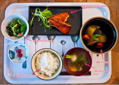 Components of a typical Japanese meal - Also, this blog is a great resource for Japanese Foodies, including Bento enthusiasts.