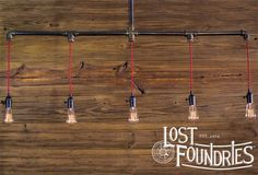 Humphry Industrial Pipe Chandelier by LostFoundries on Etsy