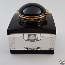 MONTBLANC Meisterstuck Crystal Inkwell in Original Box - EXCELLENT!