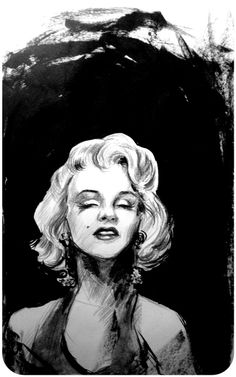 Marilyn Monroe by ~uykusuzpijama on deviantART  | This image first pinned to Marilyn Monroe Art board, here: http://pinterest.com/fairbanksgrafix/marilyn-monroe-art/ || #Art #MarilynMonroe