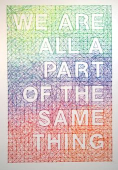 Thread and nail poster, designed by Australian artist Dominique Falla.