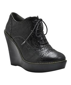 Take a look at this Black Seattle Wedge by VOLATILE on #zulily today!