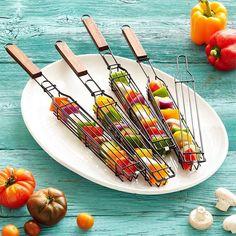 Kabob Grilling Baskets - Set of 4 #ad