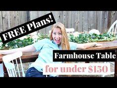 How to Build a Farmhouse Table | DIY Farmhouse Table - YouTube Build A Farmhouse Table, Farmhouse Plans, Farmhouse Furniture, Diy Furniture Projects, Woodworking Projects, Diy Table, How To Plan, Building Ideas, Box