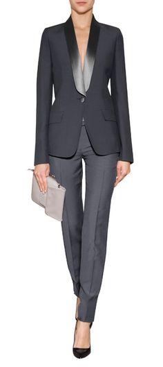 I'm loving this blazer...A sleek choice for evening, Maison Martin Margiela's satin detailed blazer lends elegant menswear-inspired style to your ensemble #Stylebop