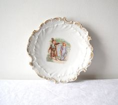 Antique Porcelain Cabinet Plate Children by MomsantiquesNthings, $25.00
