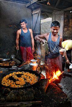 Sweet Shop Kitchen . Haldi Bari, Jalpaiguri, West Bengal
