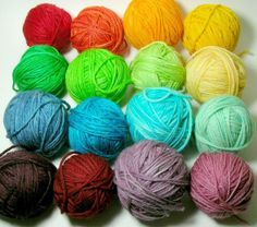 types and weights of yarns