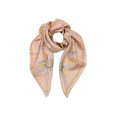 Roberto Cavalli Square Scarves Signature Logo and Symbols Print Silk... ($150) ❤ liked on Polyvore featuring accessories, scarves, blush, square scarves, patterned scarves, pure silk scarves, square silk scarves and silk shawl