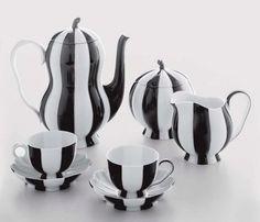 Striped Tea Set
