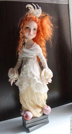 Коллекционные куклы ручной работы. Вкус любви. ольга boro. Интернет-магазин Ярмарка Мастеров. Рыжая девочка, натуральная шерсть