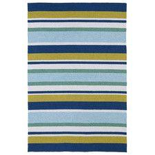 Matira Stripe Blue Indoor/Outdoor Area Rug