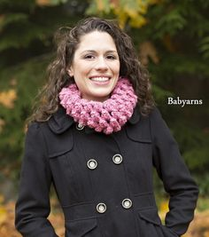 Summer Sale Chunky COWL Scarf in Pink soft & stylish by babyarns, $29.00