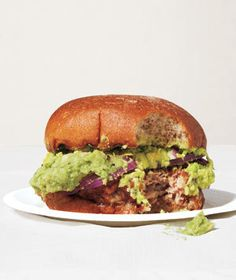 Cheddar Turkey Burgers With Mashed Avocado