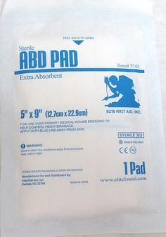 Abdominal Pad 5x9 #outdoors #survival #armynavy