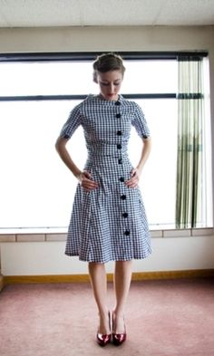 Houndstooth dress. Adorable.