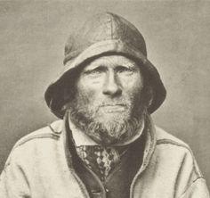 Coastal Sami Man Ivar Samuelsen Norway by Roland Bonaparte 1884. Samisk mann fra kysten i Finnmark eller Troms i Norge. 1884.