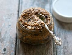 Whisper of Chocolate Walnut butter with dried cherries and cacao nibs