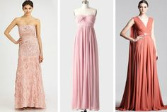 Jessica Biel, Gwen Stefani, Reese Witherspoon and Anne Hathaway all opted for pink ball gowns when they walked down the aisle. We love a beautiful blush dress—ball gown-style or slim and simple. Click through to shop these dresses and more!