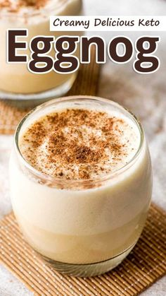 Recommended Tips:Creamy Delicious Keto Eggnog - Recommended Tips Ketogenic Diet Plan, Diet Plan Menu, Ketogenic Recipes, Ketosis Diet, Food Plan, Low Carb Drinks, Low Carb Desserts, Low Carb Recipes, Low Carb Eggnog Recipe