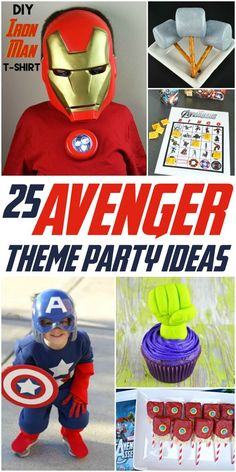If you have a little one asking for an Avengers party and you're not sure where to begin, this collection of 25 Avengers Party Theme Ideas is for you!