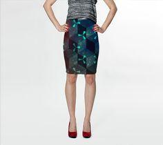 3D Blocks skirt by Bunhugger Design #3d #pattern #pencilskirt #skirts #darkside