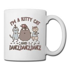 Ceramic Personalized I'm A Kitty Cat And I Dance Cup Cute Coffee Mugs -- Remarkable product available now. (This is an amazon affiliate link. I may earn commission from it)
