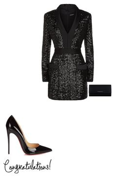 """"""""""" by sena12kan ❤ liked on Polyvore featuring Balmain, Christian Louboutin and Givenchy"""