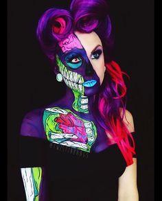 Half popart zombie girl