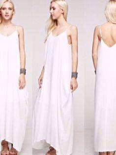 Ivory White Bohemian Cocoon Maxi Dress