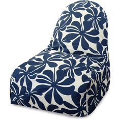 Dot & Bo Big Blooms Kick-It Chair ($105) ❤ liked on Polyvore featuring home, furniture, chairs, colored chairs, bean bag, flower chair, floral furniture and colored bean bags