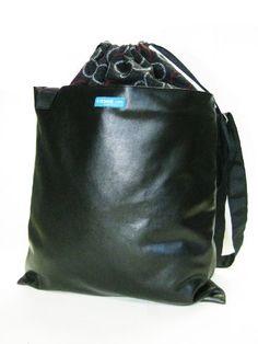 e928103436d0 cross body bags  Vegan Leather Zen Black 13 En gardens Square Simple Modern  Drawstring closure top with convertible adjustable shoulder strap