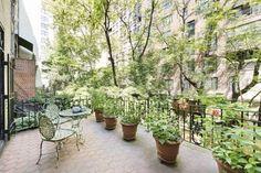 A European terrace overlooks the garden. - Cater News Agency