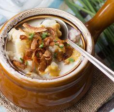 Loaded Vegan Potato Soup | 14 Nourishing Homemade Vegetarian Soup Recipes, check it out at homemaderecipes.c...