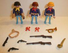 Playmobil Union Lot - People Figures Guns Sword Bugle Civil War Western Soldiers #PLAYMOBIL