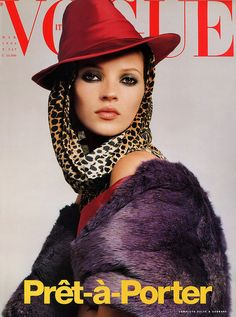 Vogue Italia, March 1996 #cover | Kate Moss by Steven Meisel for Prêt-à-Porter