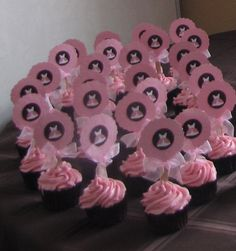 Girl Baby shower cupcakes.