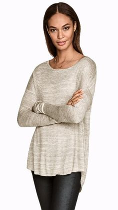 Fitted, Oversized Sweater