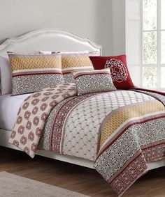 Red Sebastian Comforter Set #zulilyfinds