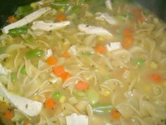 Mock Chicken soup #Vegan
