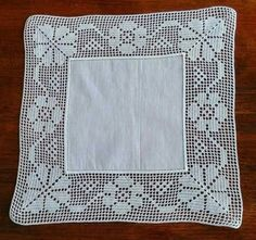 Crochet Doily Diagram, Crochet Squares, Filet Crochet, Crochet Doilies, Crochet Stitches, Crochet Tablecloth, Crochet Art, Pattern Library, Hand Embroidery Designs