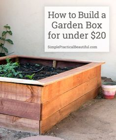 Tutorial on building a raised garden bed with fence boards