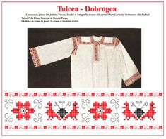 Modele de cusaturi traditionale din Dobrogea | Simona Moon Folk Embroidery, Learn Embroidery, Embroidery Stitches, Embroidery Patterns, Machine Embroidery, Antique Quilts, Traditional Dresses, Fashion Art, Cross Stitch