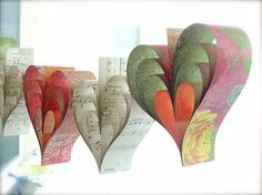 Paper hearts: I love the ones made of music paper
