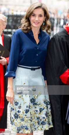Queen Letizia of Spain visits Westminster Abbey during a State visit by the King and Queen of Spain on July 13, 2017 in London, England. This is the first state visit by the current King Felipe and Queen Letizia, the last being in 1986 with King Juan Carlos and Queen Sofia.